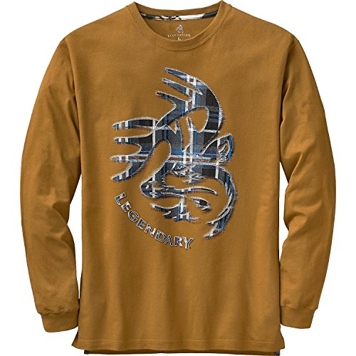 Legendary Whitetails Mens Signature Series Long Sleeve Tee Barley Large (Signature Baumwolle Series)