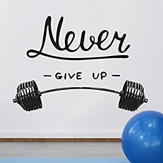 Wall Quote Motivational Home Wall Decor Vinyl Sticker Gym Decal Mural Art Inspire