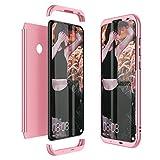 Winhoo Kompatibel mit Huawei Honor 10 Lite Hülle Hardcase 3 in 1 Handyhülle 360 Grad Schutz Ultra Dünn Slim Hard Full Body Case Cover Backcover Schutzhülle Bumper - Rose Gold