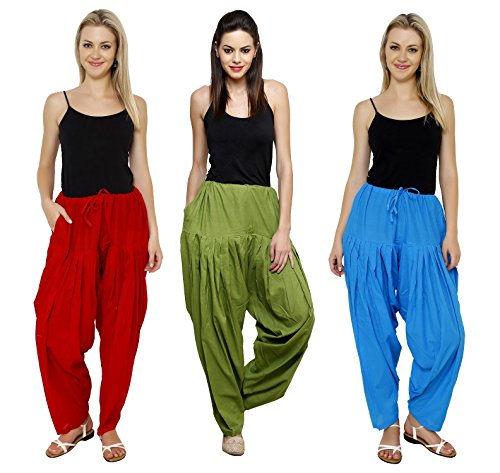 Pistaa Combo of Womens Solid Pure Cotton Maroon, Mehendi Green And Turquoise...