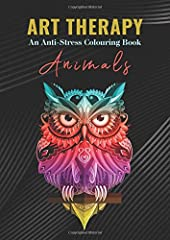 Idea Regalo - Art Therapy An Anti-Stress Colouring Book Animals: Kids and Adults Coloring Book with Fun, Easy, and Relaxing Animals Coloring Pages