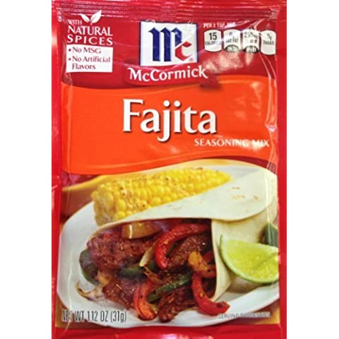 McCormick FAJITA Seasoning Mix 1.12oz (9 Packets) by McCormick - Fajita Mix