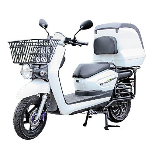 ECONNECT ZG-08 Motocicleta eléctrica Blanco Batería de litio 60V26AH 5...