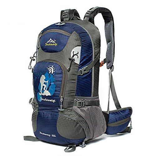 Outdoor Wandern Rucksack Klettern Tasche Wasserdicht Reise Tasche Groß Kapazität 40L Dark