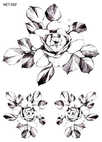 Tatuaggio temporaneo applique braccio tattoo art tattoo fiori senza peli gatto cartoon tatuaggio trasferimento dell'acqua adesivo trasferimento veloce facile da cancellare @ net11-052_210 * 150mm