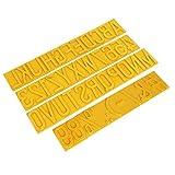 Rullo di stampa 2 'lettere maiuscole Simbolo timbro di gomma Coder Set