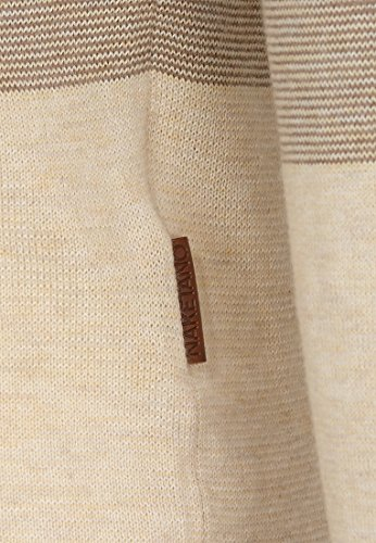 Naketano Female Knit Joao Schmierao Light Beige-Apricot Melange Striped