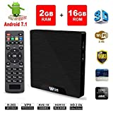 Android 7.1 Smart TV Box- VGROUND W95 Android TV Box con cuatro...