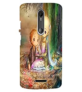 ColourCraft Lovely Art Design Back Case Cover for MOTOROLA MOTO X3