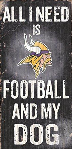 Hall of Fame Memorabilia Minnesota Vikings Holz Schild-Fußball und Hund 15,2x 30,5cm (Minnesota Fußball Viking)