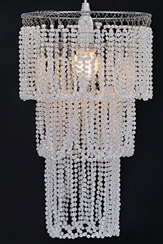 WanEway 3 Tier Ceiling Chandelier Pendant Light Shade with Beautiful ...