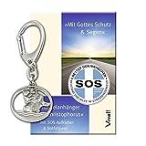 Schlüsselanhänger »Christophorus«: Mit SOS-Notfallpass und Aufkleber (allgemeine Version)