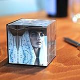 HAB & GUT (FR012) Bilderrahmen Acryl Würfel 6,5 x 6,5 x 6,5 cm, sehr edel