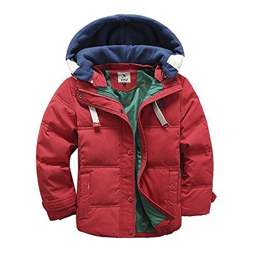 MUXILOVE Kinder Winterjacke mit Kapuze Daunenjacke für Jungen Wintermantel Down Jacket Winter Jacket Mantel Parka Outerwear Trenchcoat