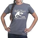 Plays With Dinosaurs Jurassic Rex Ladies Womens T shirt