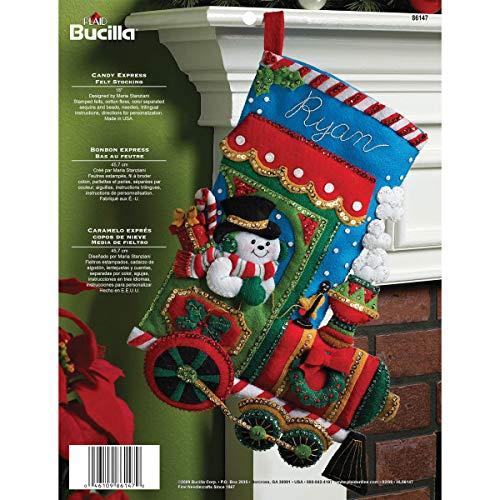 Bucilla Candy Express Weihnachtsstrumpf-Applikation aus Filz (Weihnachtsstrumpf Filz Kit)