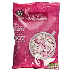 Morrisons Pink & White Mini Marshmallows, 180g