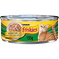 Purina Friskies with Seafood in jelly Wet Cat Food 155g