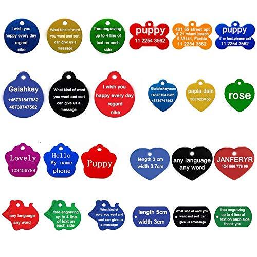 SUXIAO Halsband des Hundes 2pcs / Lot geben personifiziertes Stichtexthaustier-Identifikations-Umbauten-Hundeplaketten-Identifikation kundengebundenes Namensadressentelefon, Schwarzes, rundes 2 frei -