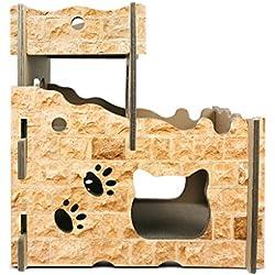 TangMengYun DIY Katze Villa Wellpappe Katze Nest Katze Scratchboard Luxus Kreative Katze Haus