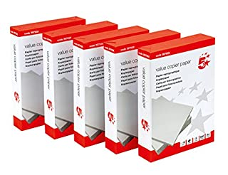 5 Star 397921 Office Value Copier Paper Multifunctional Ream-Wrapped 75gsm A4 White - 1 box containing 5 Reams of 500 sheets (B000I6QZNM) | Amazon price tracker / tracking, Amazon price history charts, Amazon price watches, Amazon price drop alerts