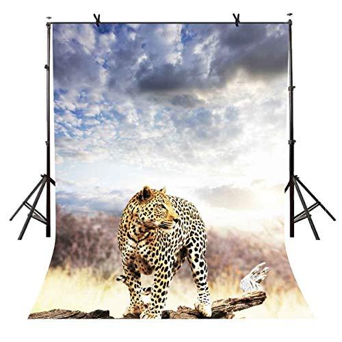JoneAJ 5x7ft Gepard Hintergrund Futtersuche Gepard Tier Fotografie Hintergrund Fotostudio Hintergrund Requisiten LYXC075