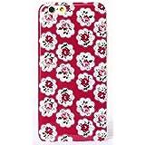 Phone Kandy® Bastante floral de la vendimia Caso de Shell duro de la piel y la pantalla del protector para carcasa funda (iPhone 5 5s SE, Provence rosa roja)