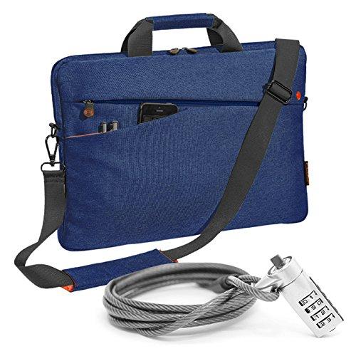 """PEDEA Notebooktasche """"Fashion"""" für 17,3 Zoll (43,9cm) mit Zubehörfach, Schultergurt und Notebookschloss, blau"""
