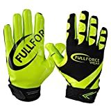 Receiver Football Gloves, Full Force Victory American Football Handschuhe - schwarz/neon grün Gr. M