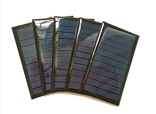 5pcs/lot 6V 0.5W Solarpanel Sonnenkollektor Solarzelle Eigenbau Polysilizium DIY Solarmodule Batterie zur Aufladung BAUEN SIE IHRE