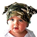 Bovake Baby Mütze Kid Kleinkind Long Ears Rollkragen Cap Horn verknotet Baby Hut Mütze Infant Cap (camouflage)