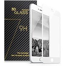 Surwell Protector de Pantalla para iPhone 6 plus / 6s plus Cobertura Completa 5.5 pulgadas, Cristal Templado, color blanco