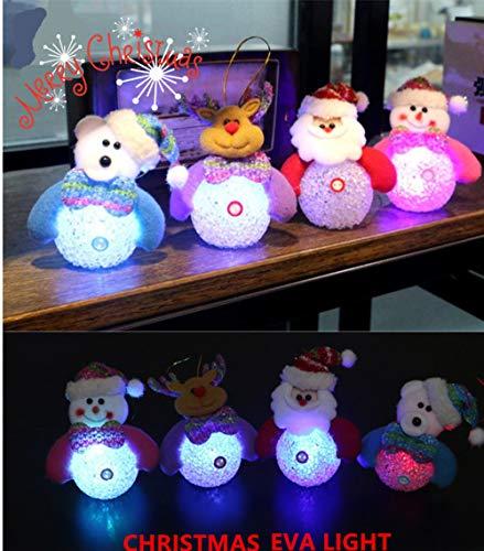IGEMY- de Noël Bonhomme de Neige lumière, Bonhomme de Neige de Noël Décoration lumière de Nuit Lueur avec Lampe Neige Bonhomme de Neige Petite lumière Cristal élégante Décoration de Noël