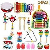 BelleStyle Juguetes de Instrumentos Musicales, 24Pcs Juguetes Musicales Instrumentos Musicales...