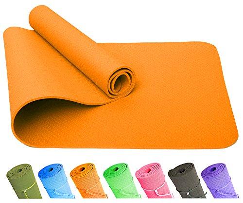 Good Times Yogamatte, TPE Matte, rutschfest, umweltfreundlich, hypoallergen und hautfreundlich, SGS geprüft, Gymnastikmatte, Fitnessmatte,...