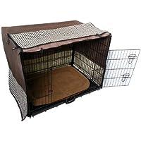 Hundegitterbox Komplettset mit Abdeckung und Liegematte Schokobraun X-Treme Safe 5 Größenen wählbar inkl. Bodenwanne