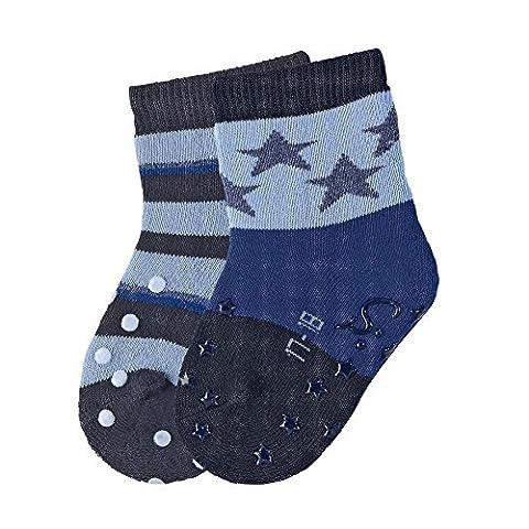 Sterntaler Baby - Jungen Socken ABS - Krabbelsöckchen DP Sterne 8111720, Gr. 18, Blau (marine 300)