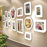 Galleria fotografica X&L muro di foto 8-inch solido legno creativo matrimonio foto telaio appeso a parete arte occidentale-stile soggiorno...