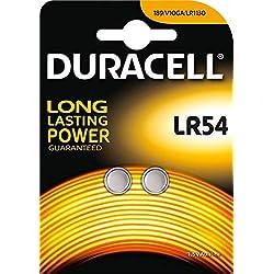Duracell Lot de 2 piles alcaline LR54