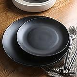 CHENXXOO Teller Keramik Schwarz Matt Platte Retro Western Dish Ein