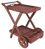 Garden Pleasure Teewagen TOLEDO, mit 2 Etagen geölt