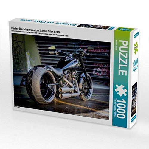 Harley-Davidson Custom Softail Slim S 300 1000 Teile Puzzle quer (CALVENDO Hobbys) (Glide Teile Street)