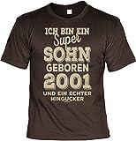 Cooles T-Shirt zum 17. Geburtstag T-Shirt Sohn geboren 2001 Geschenk zum 17 Geburtstag 17 Jahre Geburtstagsgeschenk 17-jähriger
