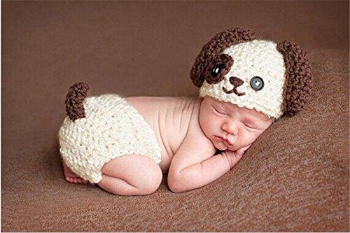 WJH&ZMB Baby Fotografie Requisiten Baby Fotografie Hand Made Kleiner Hund Kostüme-Baby Fancy dress0-3 Monate - Handmade Hunde Kostüm