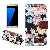Handy schützen, Für Samsung Galaxy s7 kante s6 kante Plus fallabdeckung Blumen pu Leder Handy s5 s4 s4 aktiv s4 Mini s5 Mini s3 für Samsung