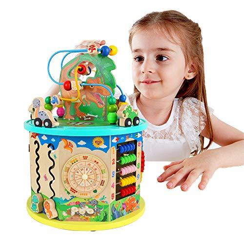 Cubo di attività in legno 11-in-1 multifunzione perlina labirinto dinosaur world activity center giocattolo educativo ragazzo e ragazza regalo bambino