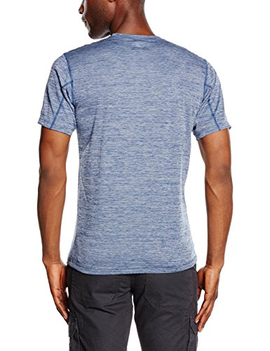 Columbia Herren Zero Rules Short Sleeve T-Shirt, Schwarz Carbon Heather Blue