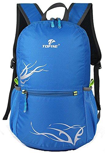 Zaino Unisex per Escursioni a Piedi Alpinismo Attività all'aperto,Blu, 20L