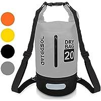 Bolsa Impermeable, VIPFAN impermeable 5L/10L/20L/30l mochila bolso con correa de la cintura para Playa nadar kayak senderismo - proteger la camara del iPhone documento de agua y suciedad (Gris 5L)