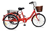 Jorvik 20″ Vintage Dutch Style Folding Frame Adults Or Child'S Tricycle (Red Dutch)